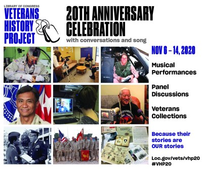 20th Anniversary of Veterans History Project flyer