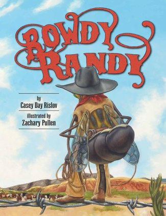 Book cover depicts cartoon horsefly in cowgirl garb