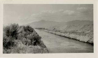 Los Angeles Aqueduct canal in Owens Valley