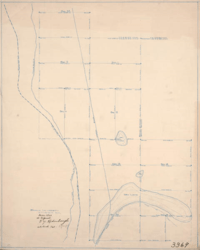 Map of Los Angeles Aqueduct, Southern Pacific Railroad, and dry lakes, March 1911