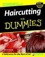 Cover of haircutting for dummies