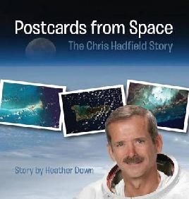 Book cover of postcards from space
