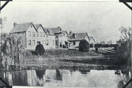 Photo of Christchurch Hospital, Riccarton Avenue, Christchurch [1872].