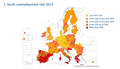 Youth unemployment rate 2013