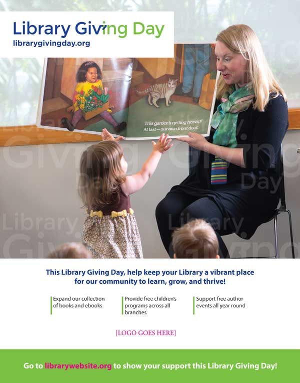 Library Giving Day poster