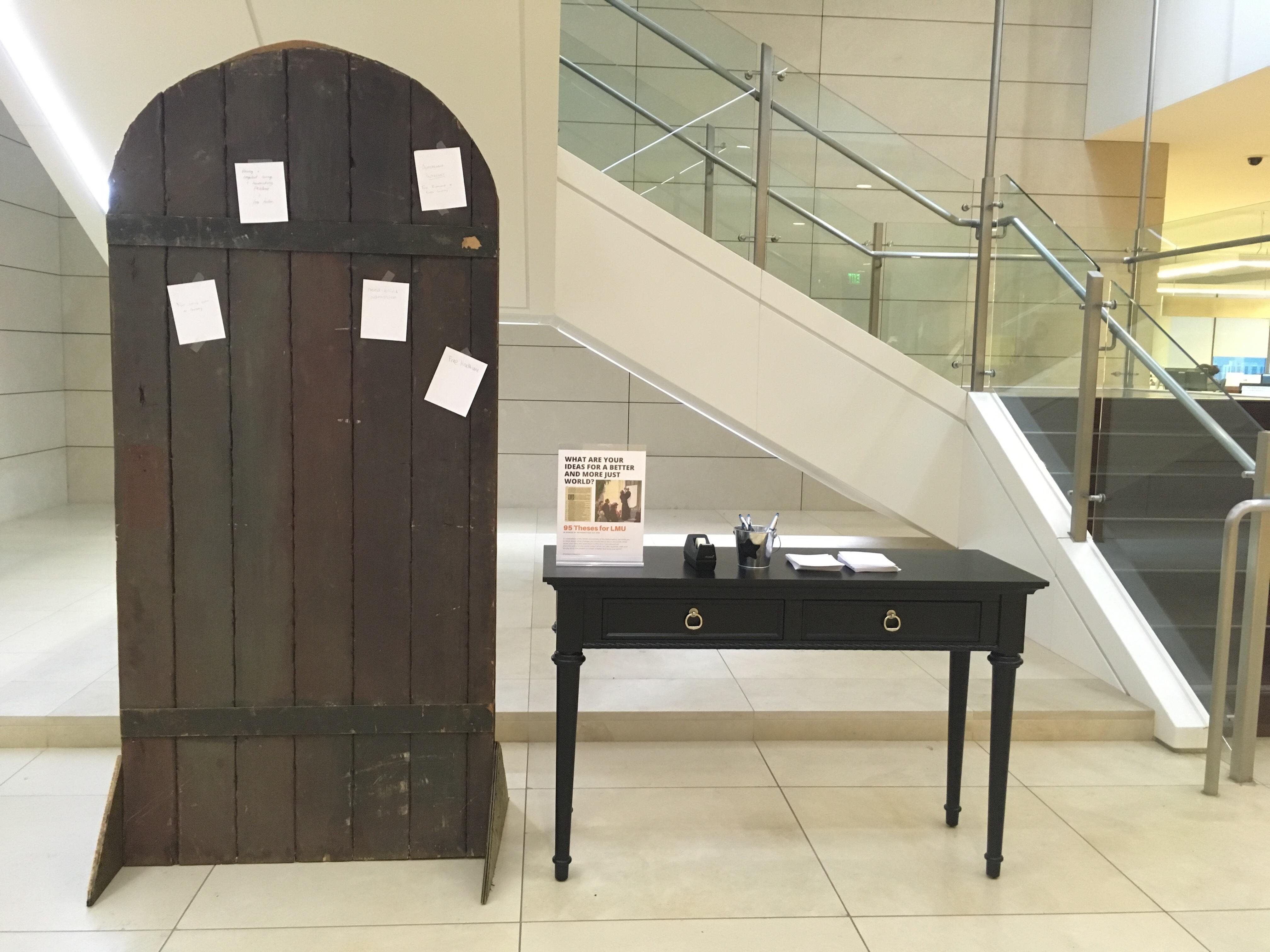 Door in library lobby
