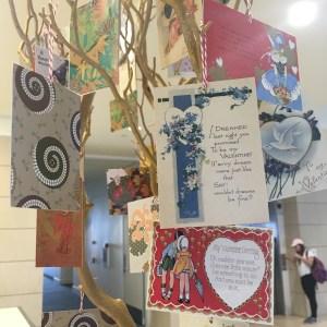 Tree of valentines day postcards
