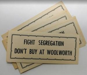 Woolworth boycott slips