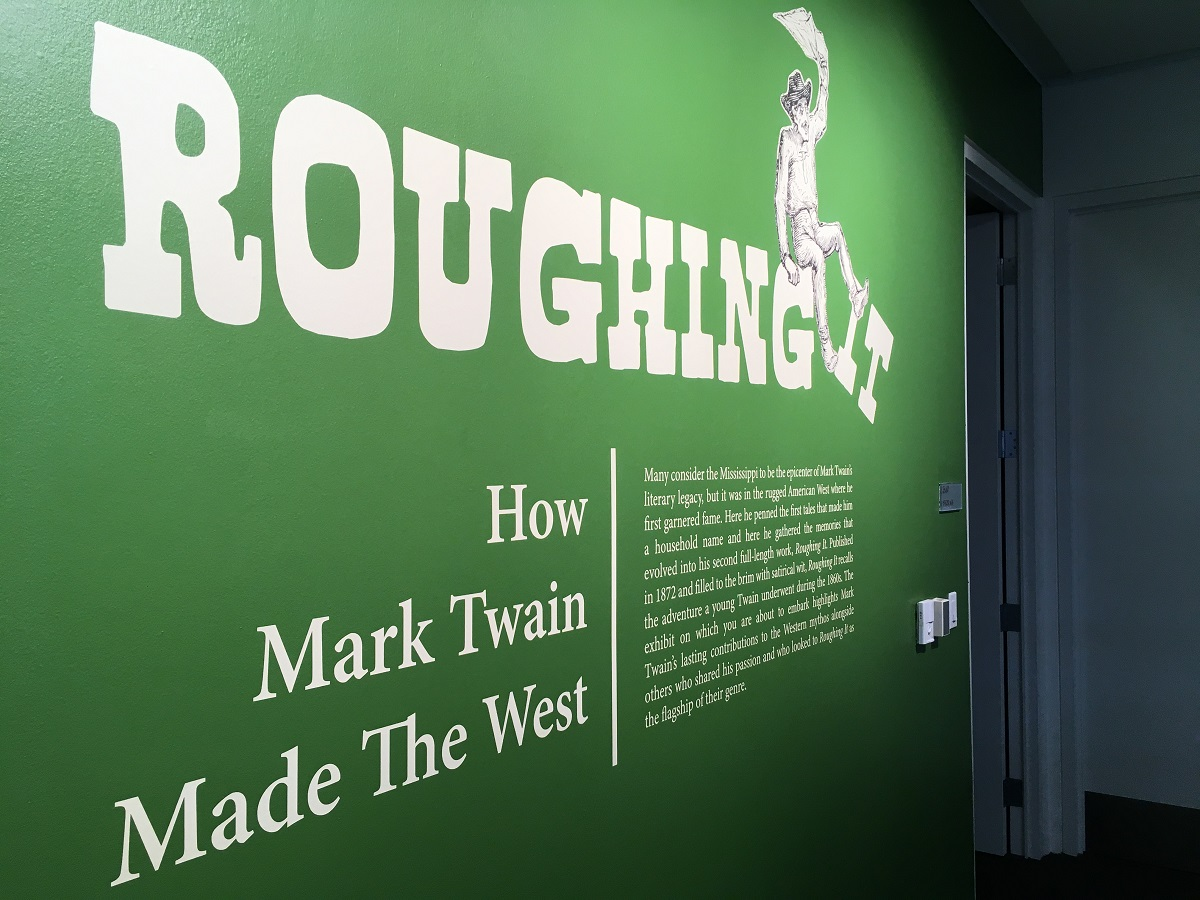 "The wall design for ""Roughing It"""