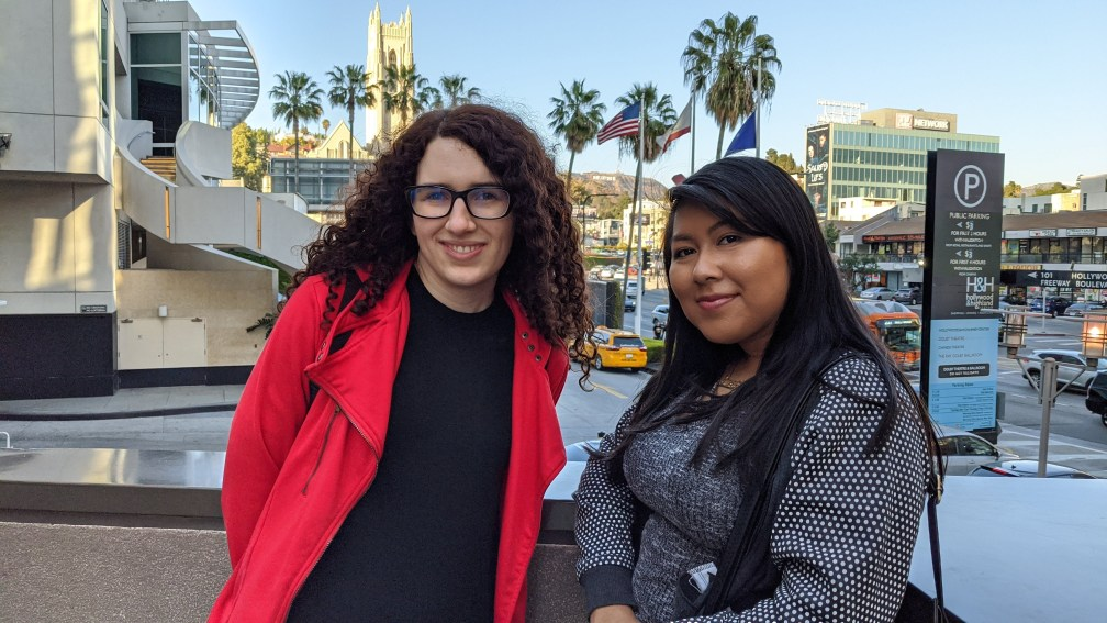 Ally and America in Hollywood