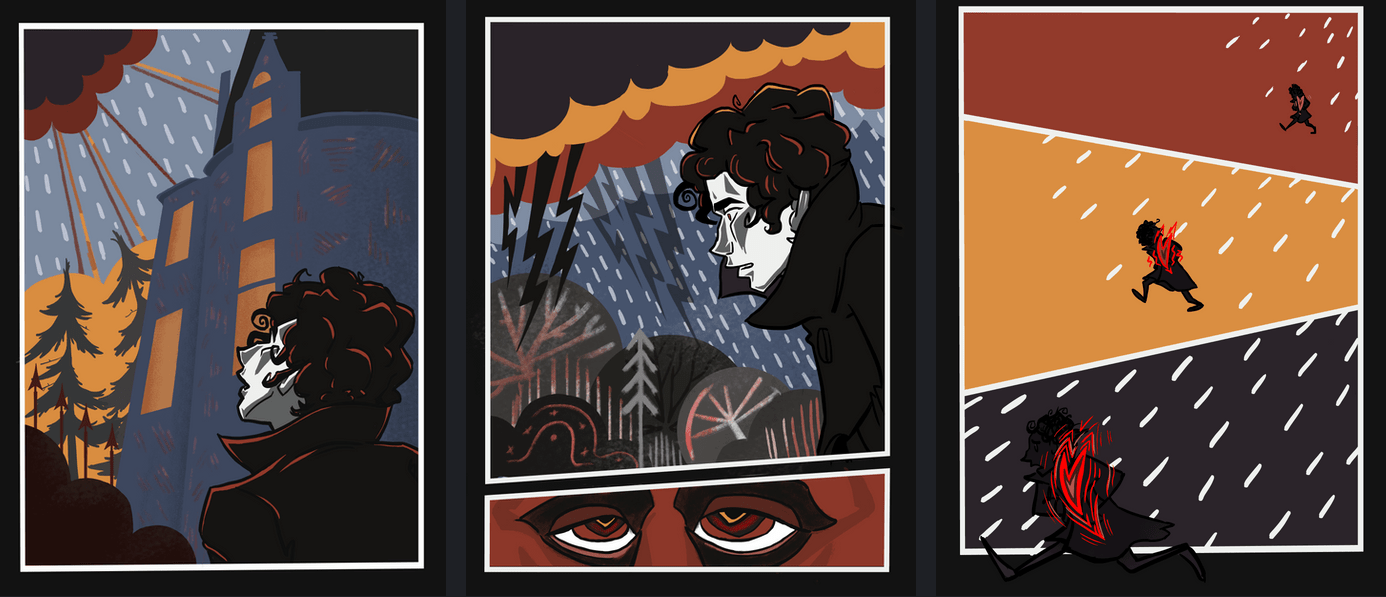 panels from an art 333 student's project