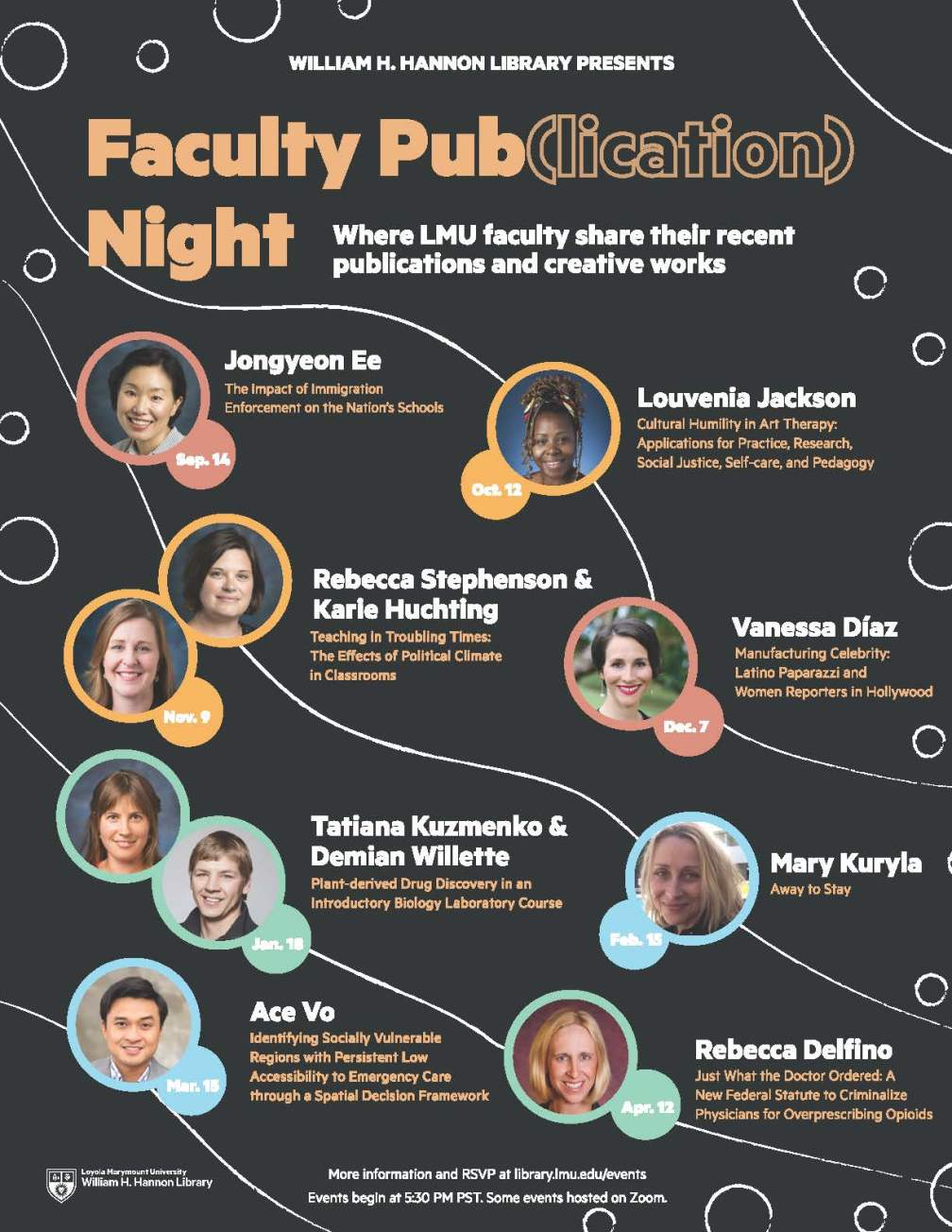 faculty pub night speakers poster