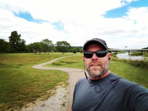 Chad during a lunchtime run on the Hockhocking Adena Bikeway