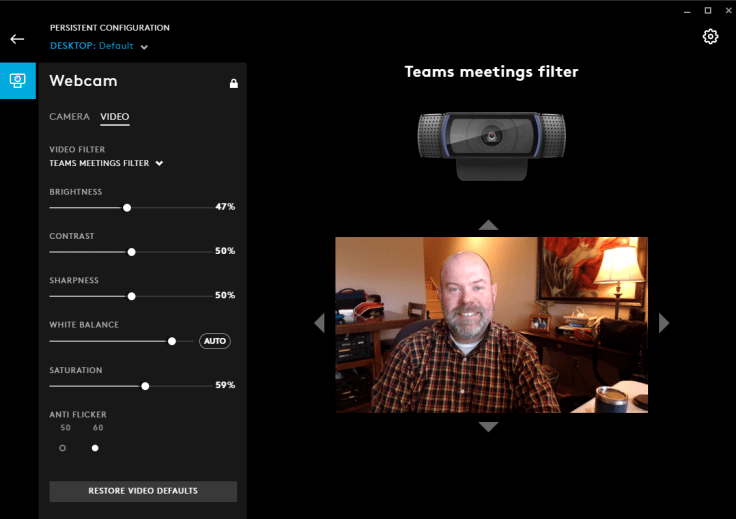 Customize your camera settings with Logitech G-Hub