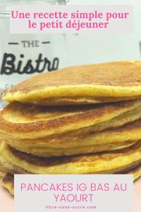 Pancakes IG Bas au yaourt