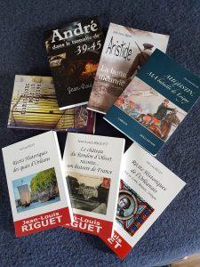 Livres à base historique de Jean-Louis Riguet auteur