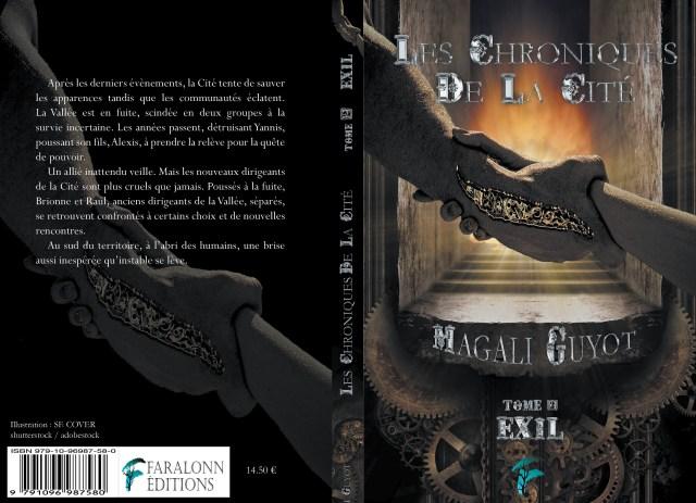 Couverture de Exil, de la série Chroniques de la Cité, un livre de Magali Guyot, écrivaine passionnée