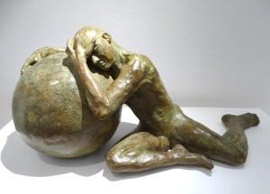 J'ai rêvé d'un autre monde - Bronze de Anne Boisaubert
