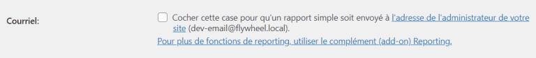 Recevoir un courriel de rapport