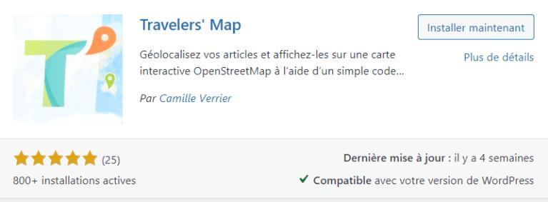 Plugin Traveler's Map