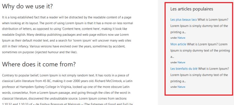Afficher le début du texte de l'article : Résultat