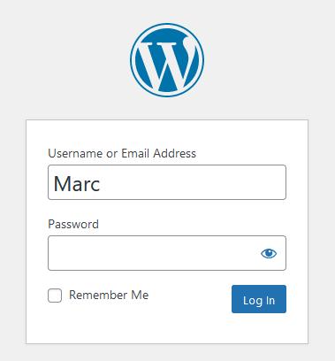 Connexion à WordPress, demande des identifiants