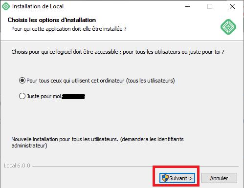 Installer le logiciel sur plusieurs utilisateur ou non
