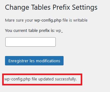 Un nouveau préfixe pour les tables