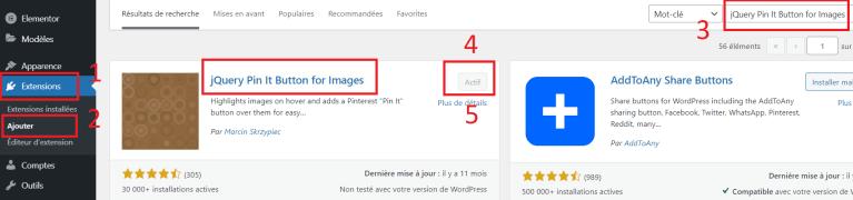 Pinterest connexion : jQuery pin it button for images