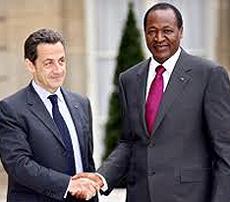 Compaoré con Sarkozy