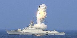 Missili Kaliber lanciati dal Mar Caspio