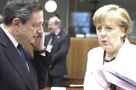 Draghi e Merkel, esponenti della super-massoneria internazionale reazionaria