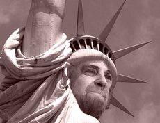Grillo statua libertà