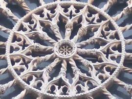 Il Rosone della basilica di Collemaggio all'Aquila