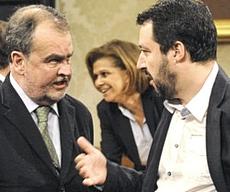 Salvini con Calderoli