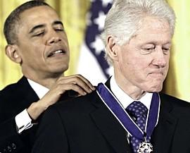 Clinton premiato da Obama