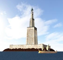 Il Faro di Alessandria, ricostruzione
