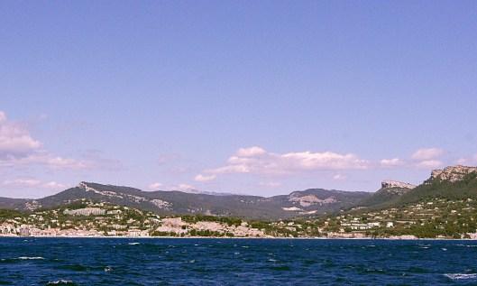 Cassis, panorama vue de la mer