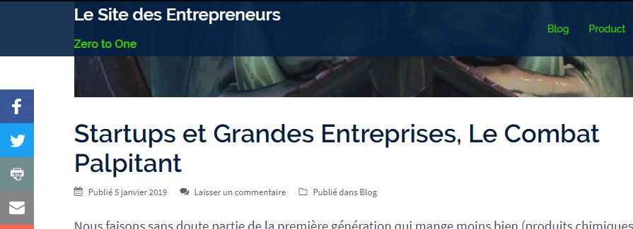 Les sites entrepreneurs pour la technique de gestion d'entreprises