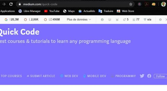 Apprendre à coder avec Quick Code