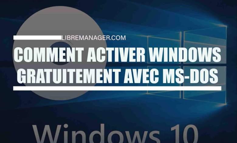 Activer Windows sur Libremanager