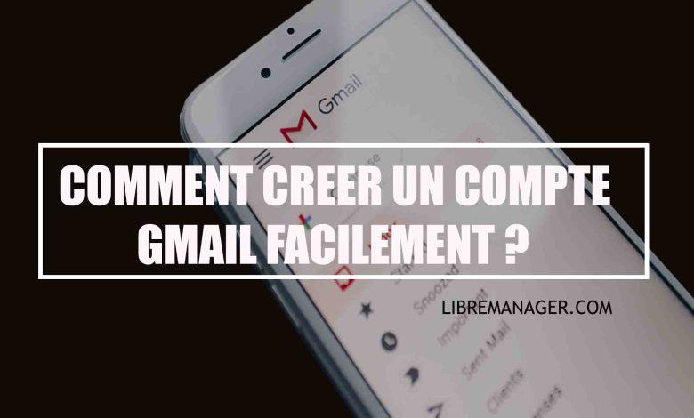 Libre Manager dans la création d'un Gmail