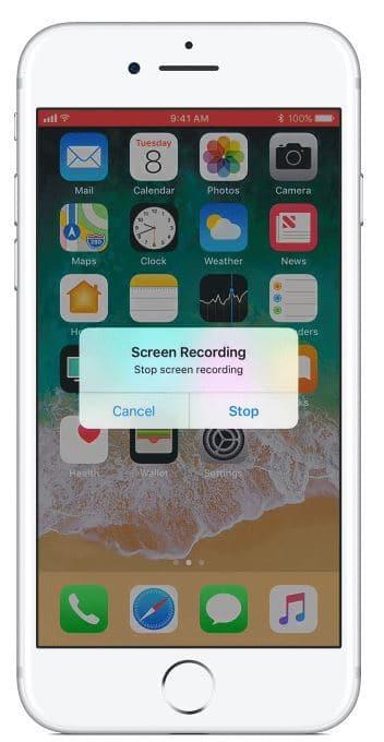 Stopper l'enregistrement de l'appel Vidéo WhatsApp sur iPhone