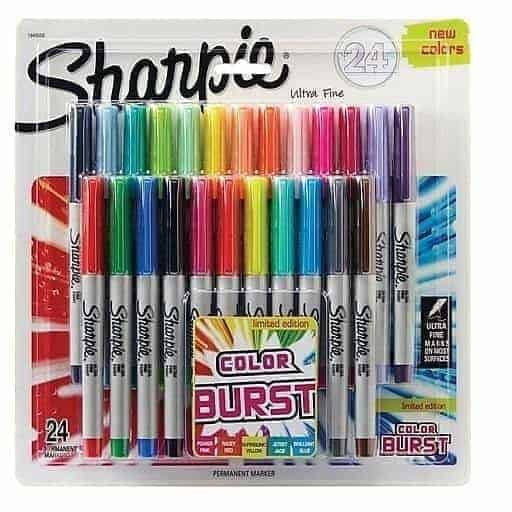 set sharpie 24 marcadores ultra fino