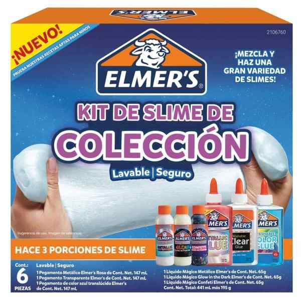 ELMER'S KIT SLIME COLECCION 6 PIEZAS