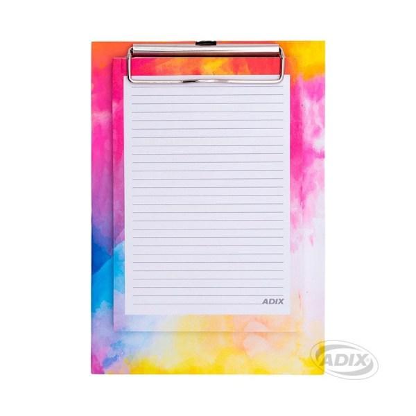 Anotador portapapel de colores con lapiz adix A750005-1