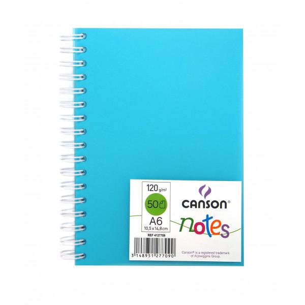 canson notes a6 celeste