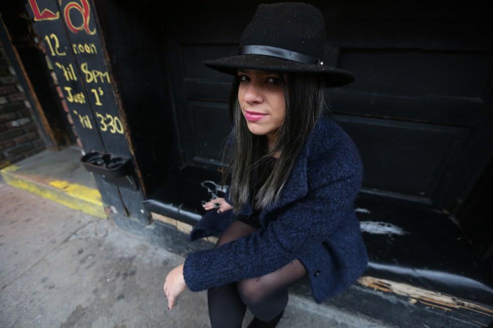 Poeta y escritora Puertoriqueña Marielis Acevedo Irizarry en Brooklyn, New York on January 17, 2016.