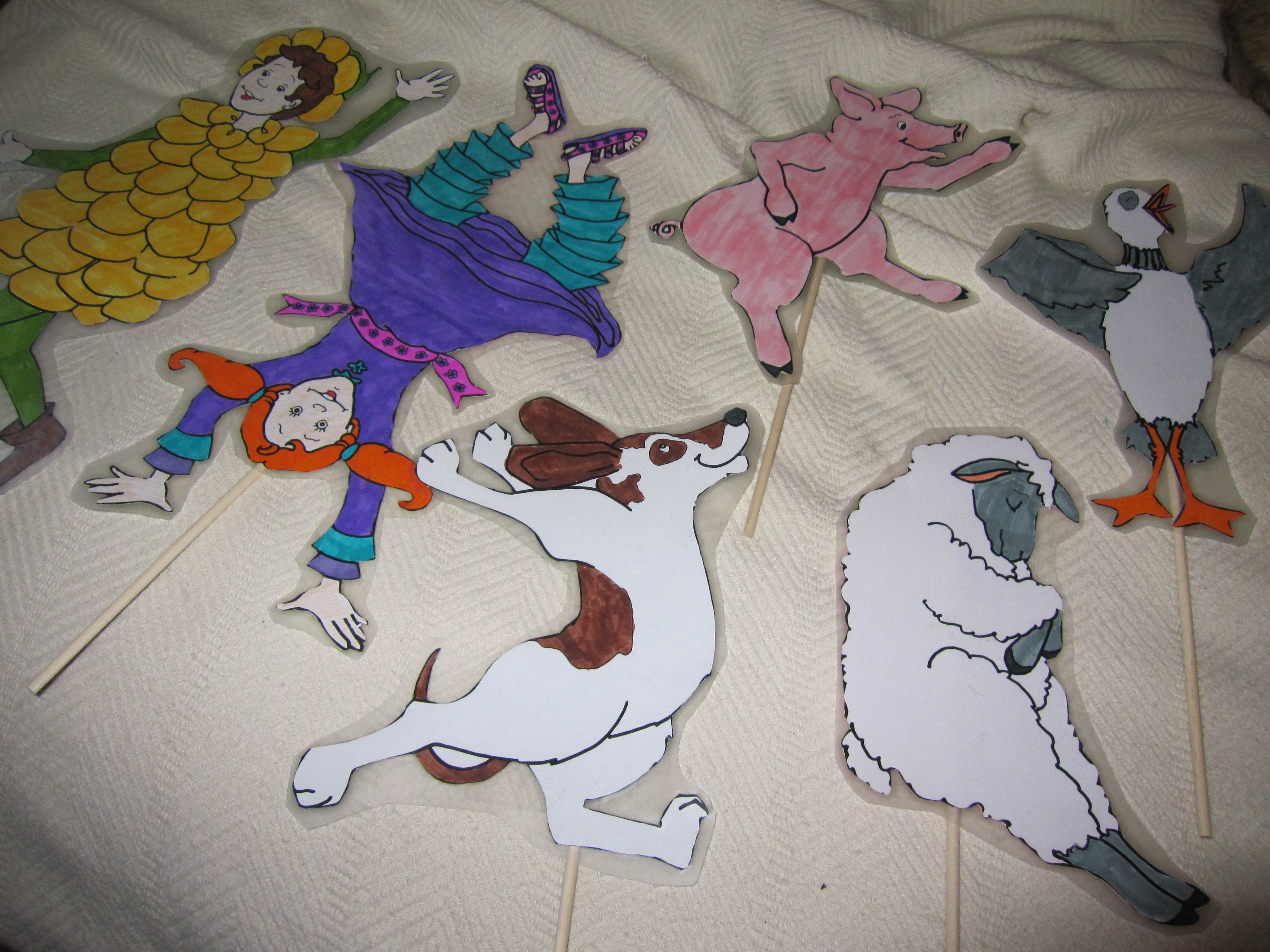 Silly Sally Puppets