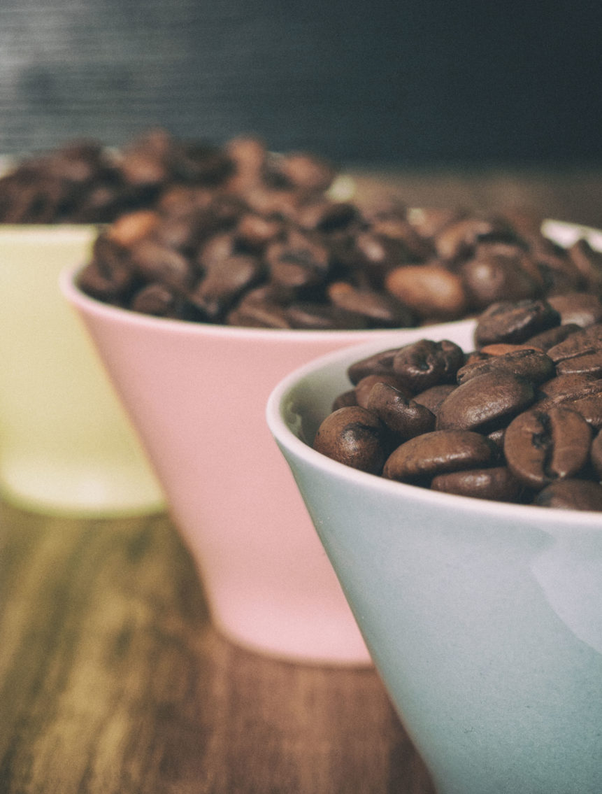 Three Cups With Coffee Beans Free Image On Libreshot